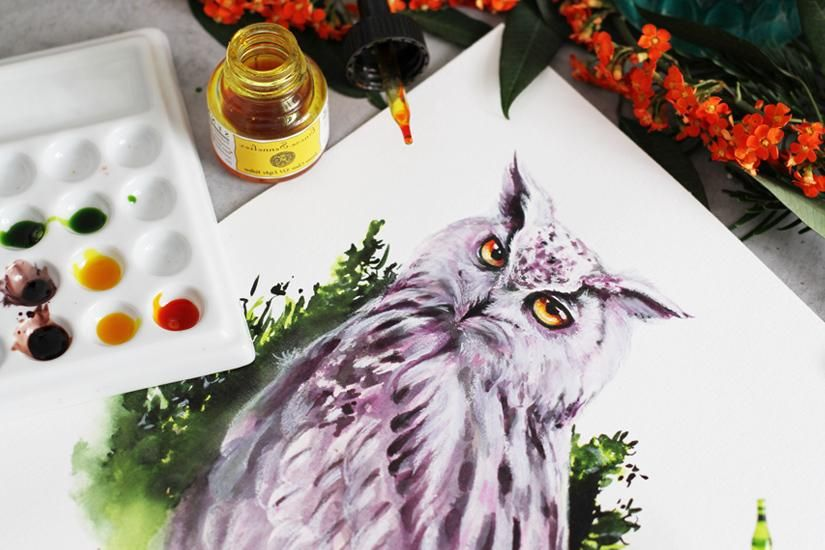 Purple Owl in INKredible Forest - image 9 - student project