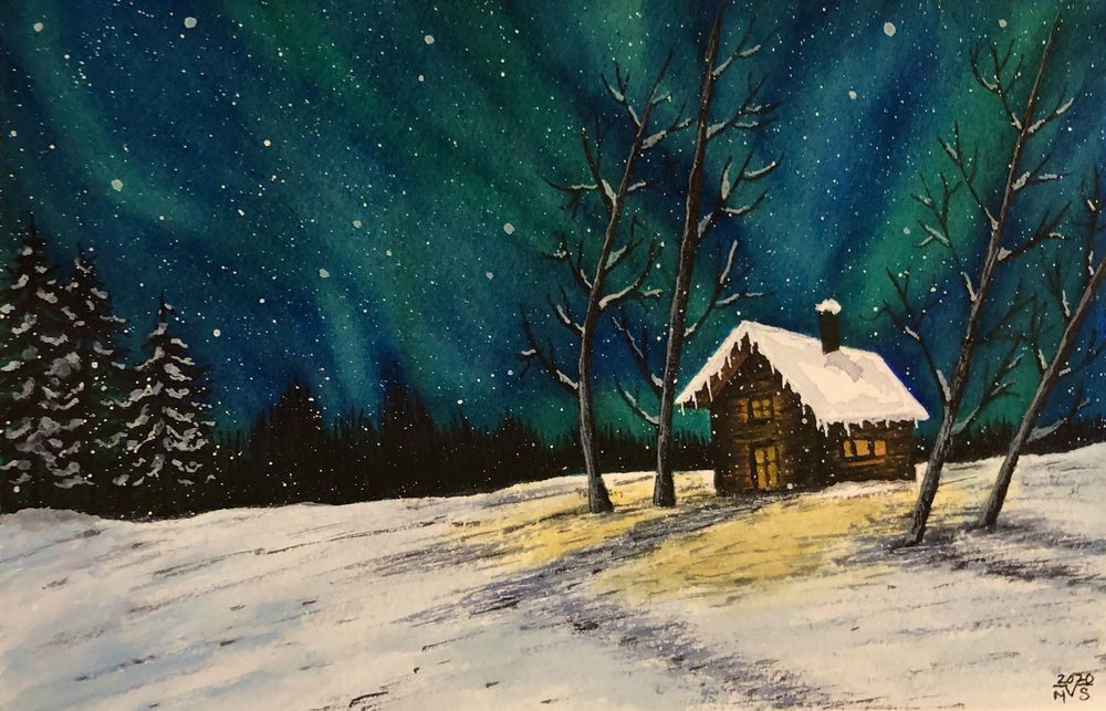 Snowy Winter Sky - image 1 - student project