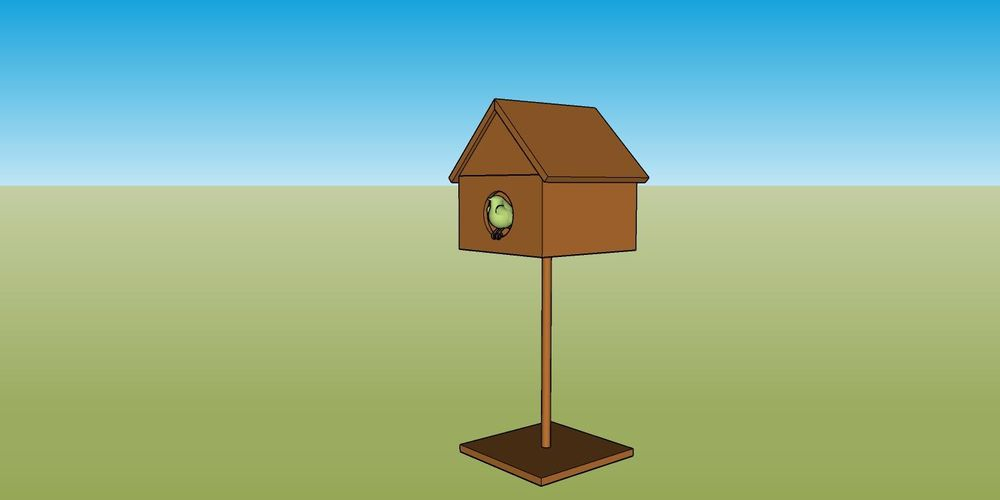 Bird house - image 1 - student project