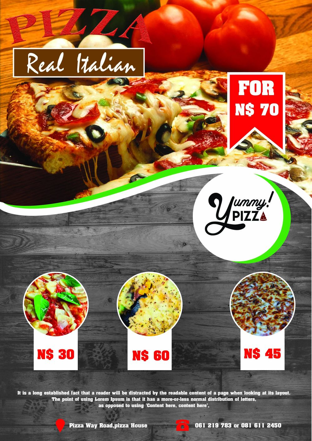 Pizza Flyer - image 1 - student project