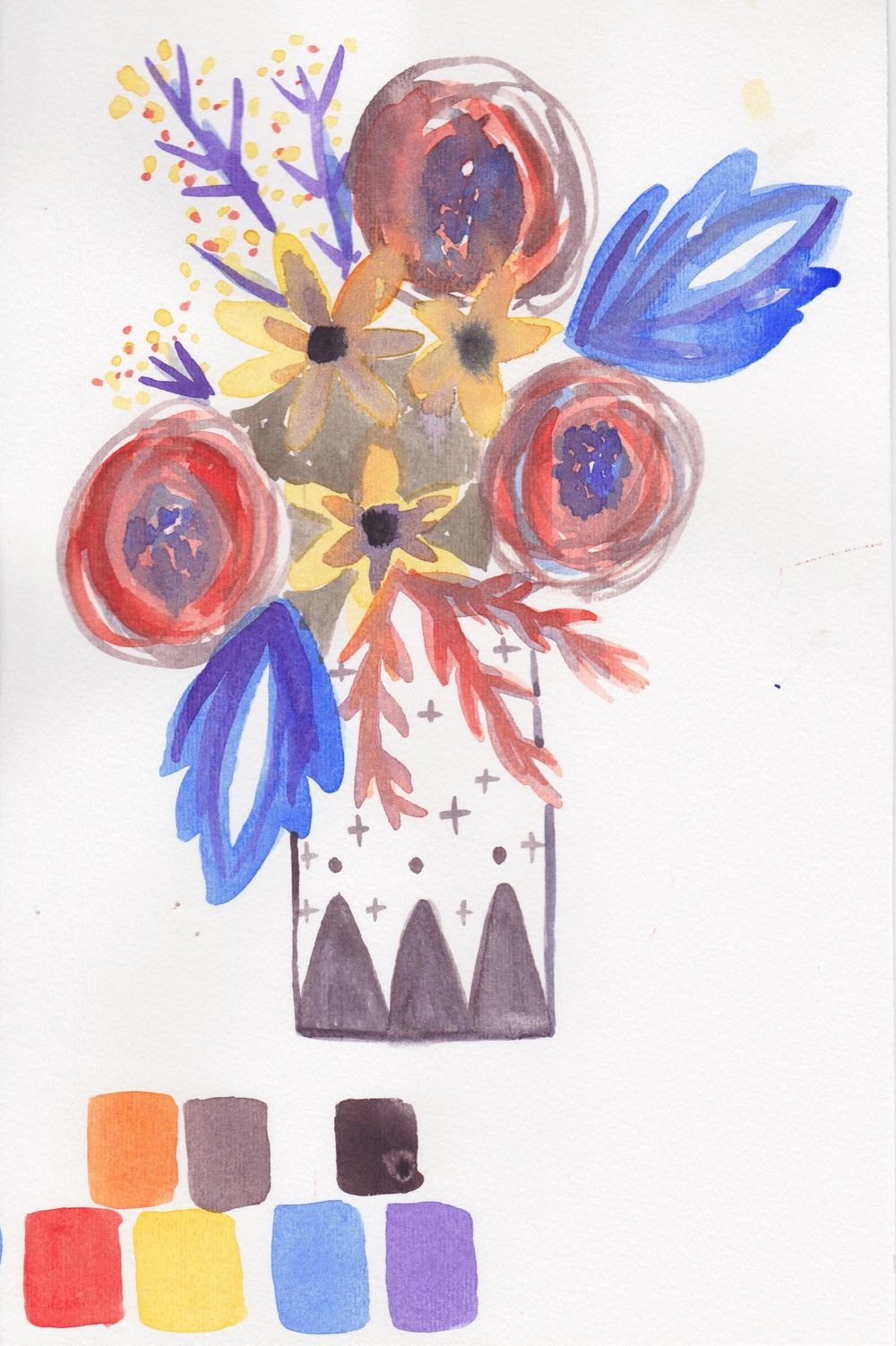 Experimenting with water color!! - image 2 - student project