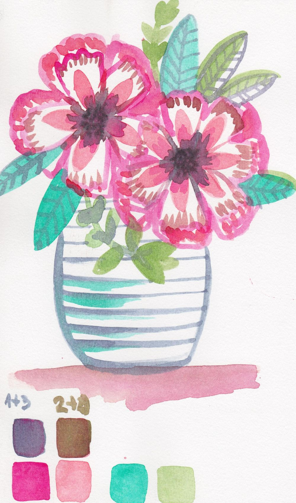 Experimenting with water color!! - image 1 - student project