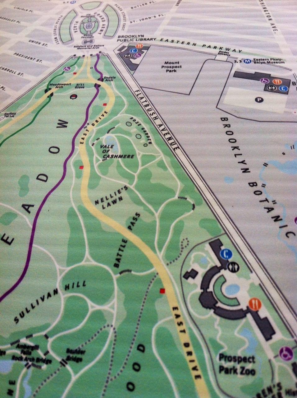 Sense Map of Secret places in Prospect Park  - image 2 - student project