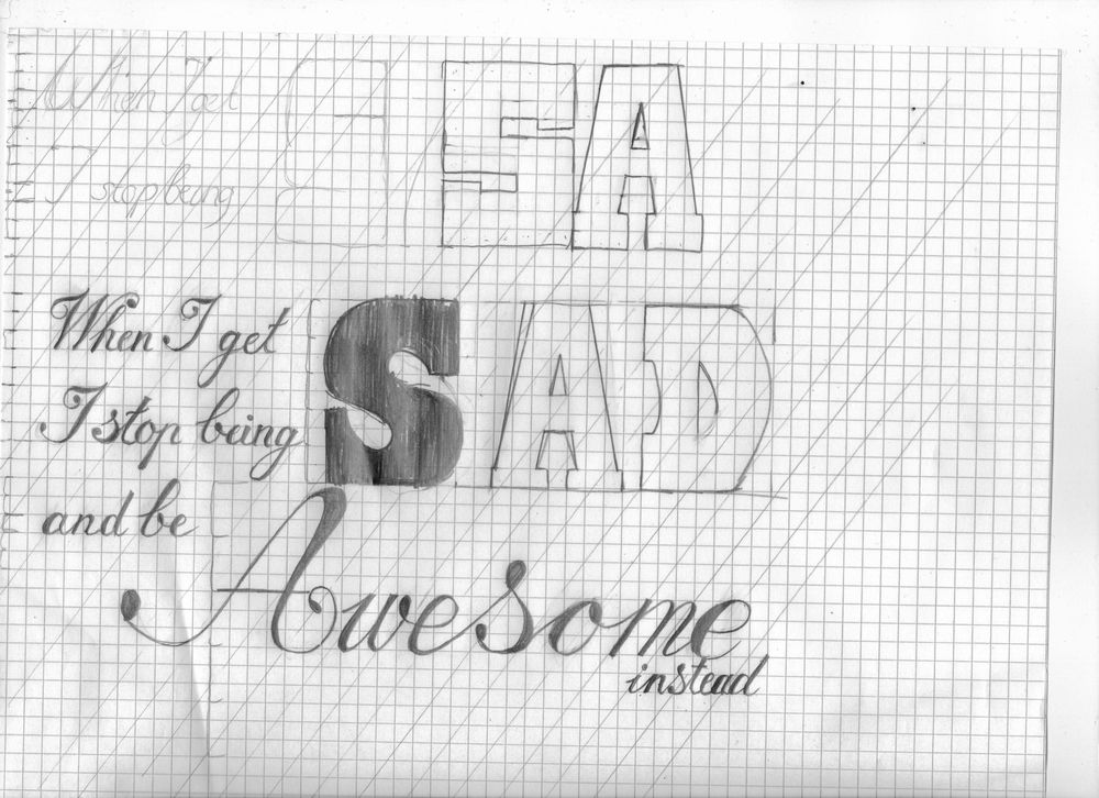 When I get sad, I stop being sad and be awesome instead! - image 3 - student project