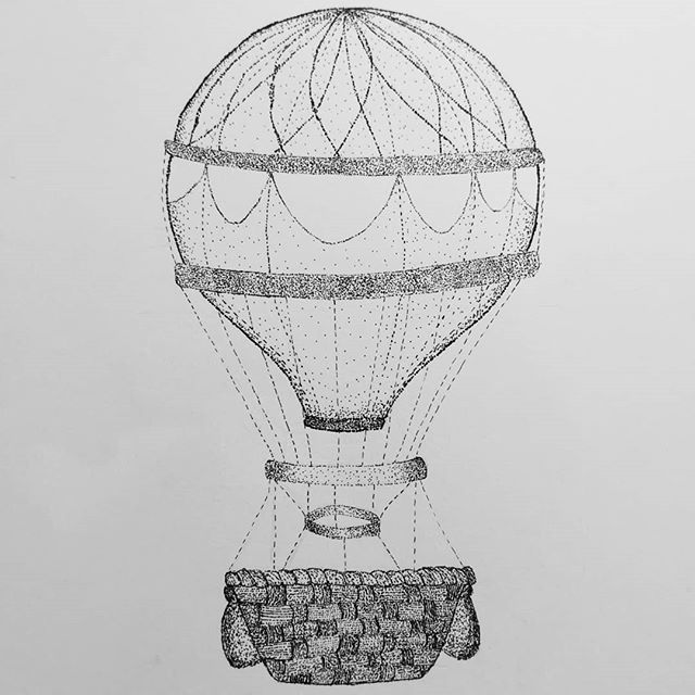 stippled hot air balloon - image 1 - student project