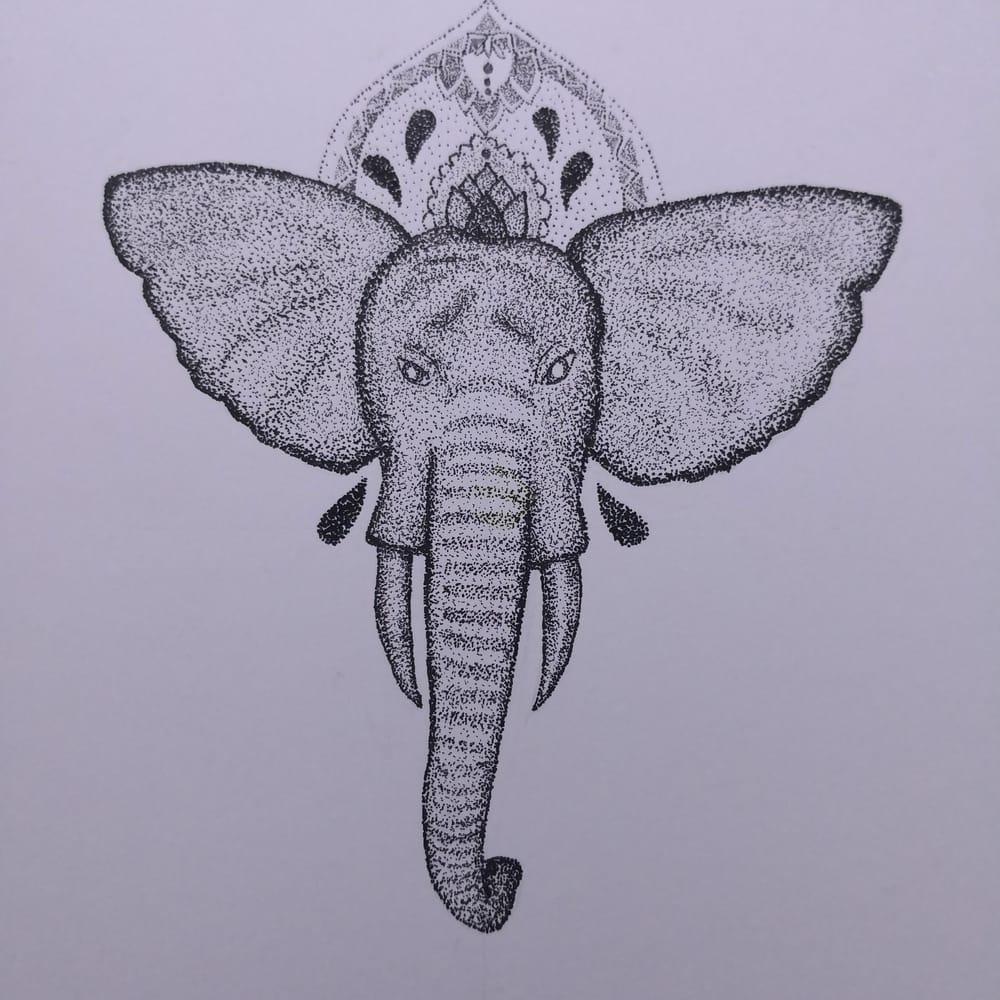Stippled elephant - image 1 - student project