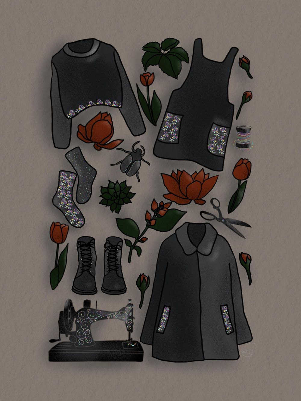 Folk Illustration - image 1 - student project