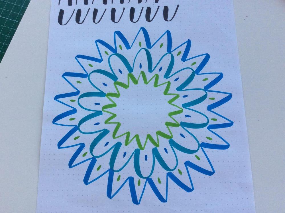 Mandala con trazos básicos de lettering - image 2 - student project