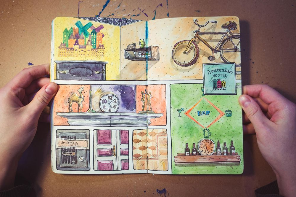 Layouts for your sketchbook. Make your sketches interesting and organized - image 3 - student project