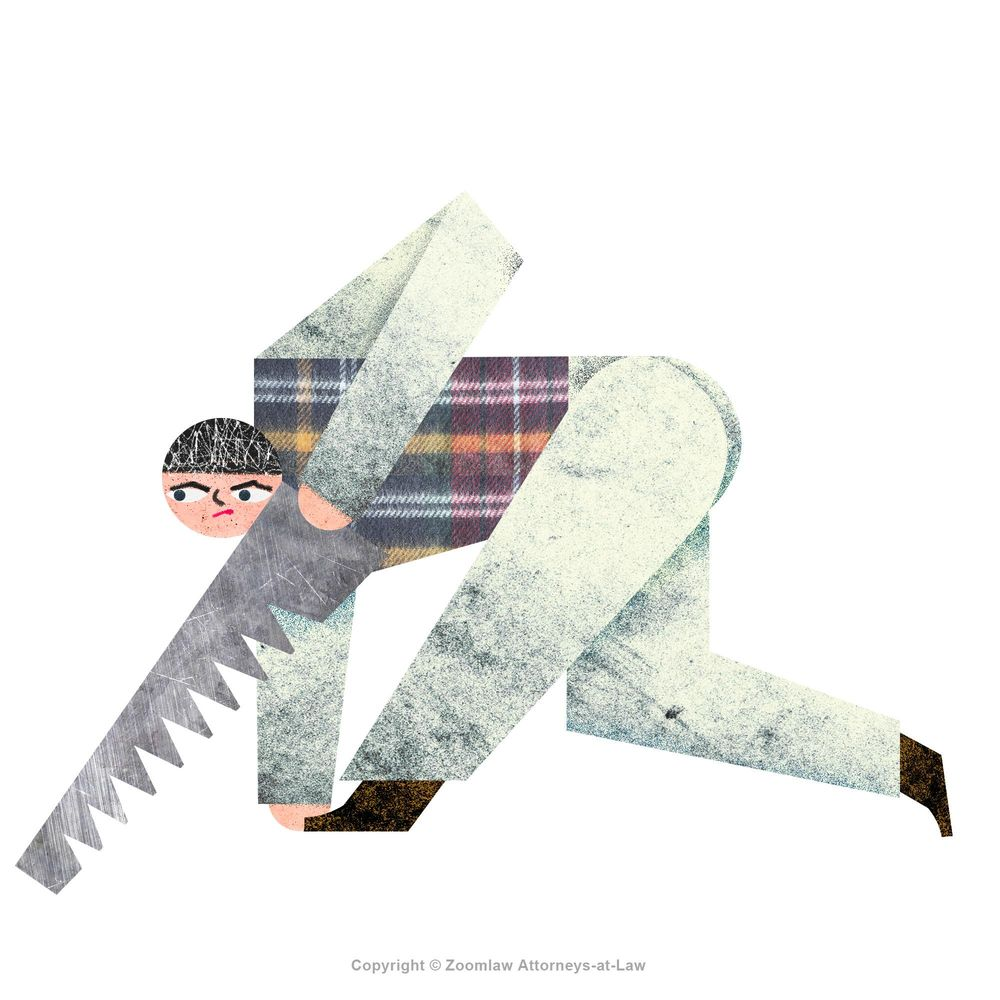 sawing man - image 3 - student project