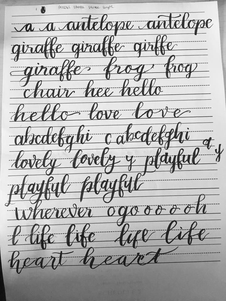 Brush Lettering 2: Alphabet Basics - image 3 - student project