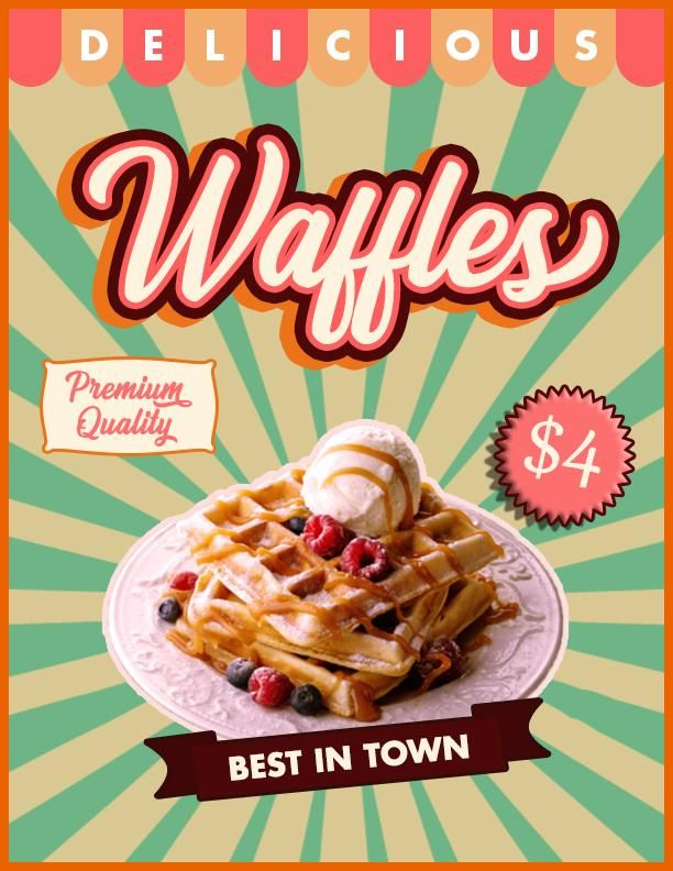 Waffles Retro Poster - image 2 - student project