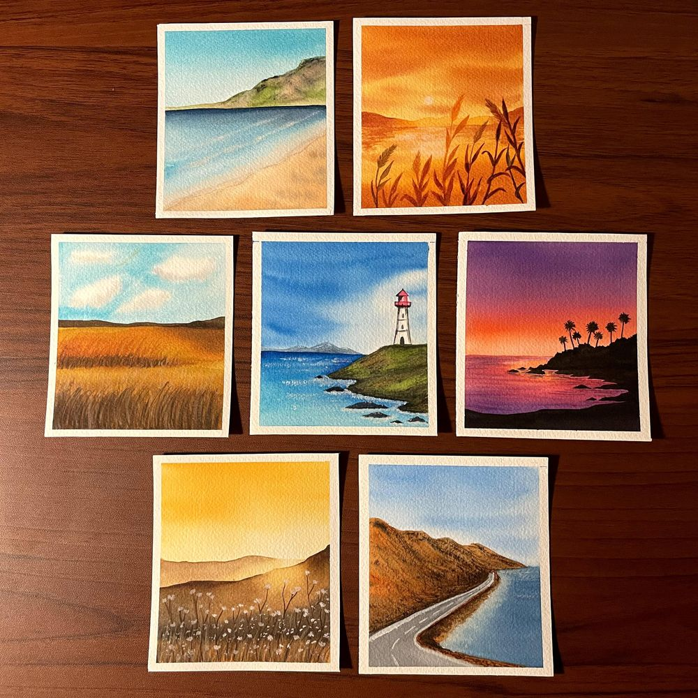30 day watercolor challenge - 4 seasons - image 2 - student project
