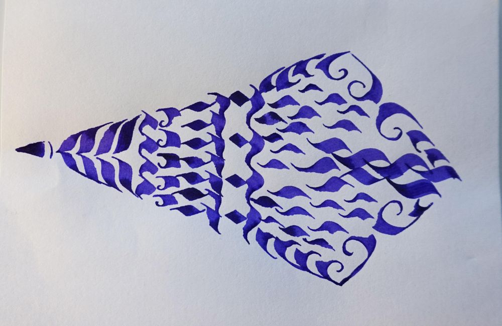 Getting Comfortable with the Pilot Parallel Calligraphy Pen;  - image 4 - student project