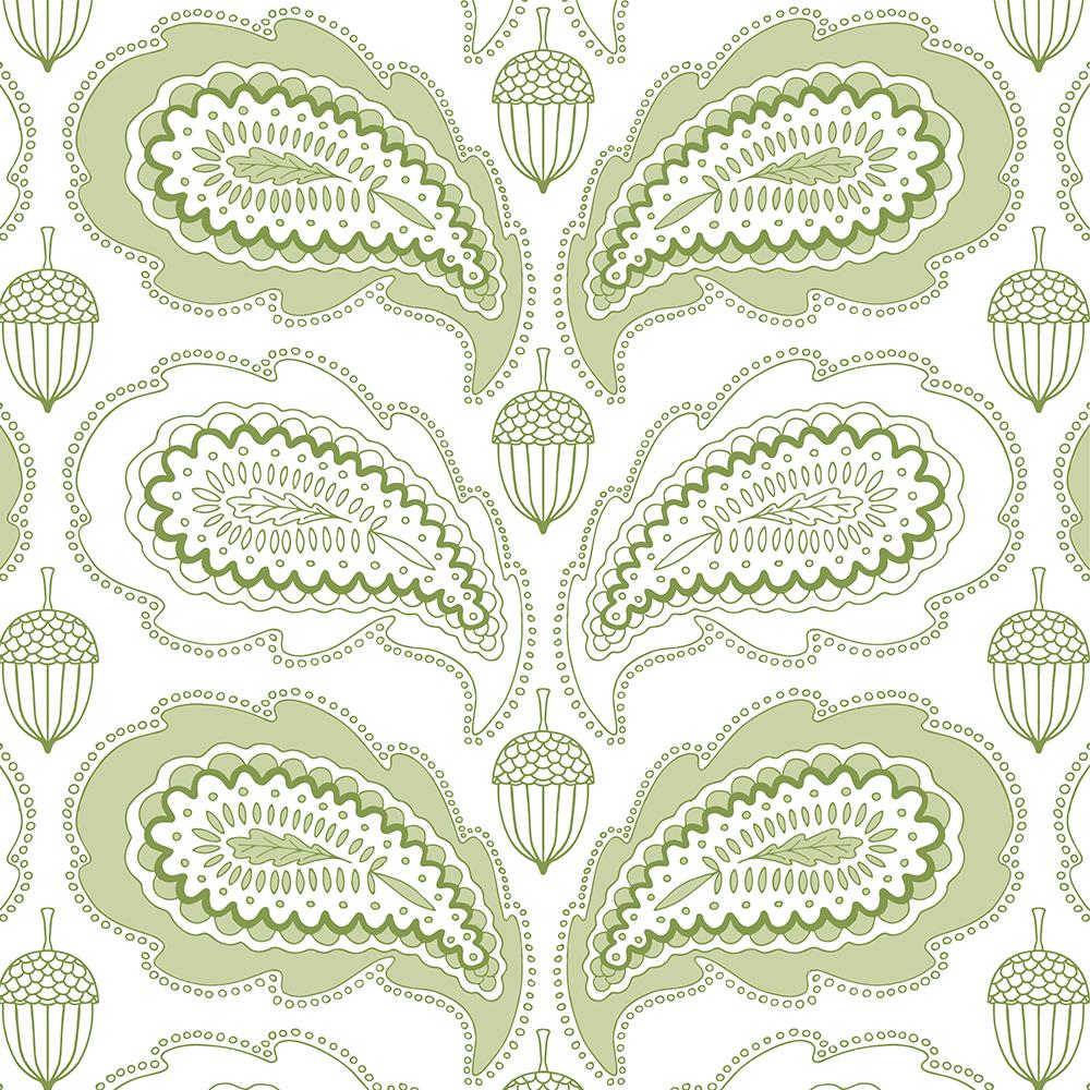 Paisley oak leaf - image 2 - student project