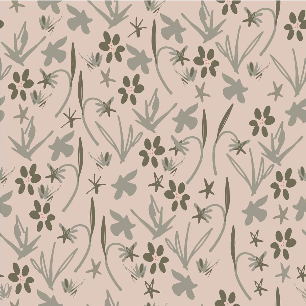 Class Project : Florals  : Coloring a pattern in different ways - image 6 - student project