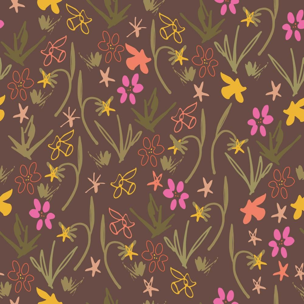 Class Project : Florals  : Coloring a pattern in different ways - image 2 - student project