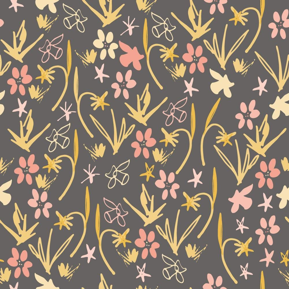 Class Project : Florals  : Coloring a pattern in different ways - image 4 - student project