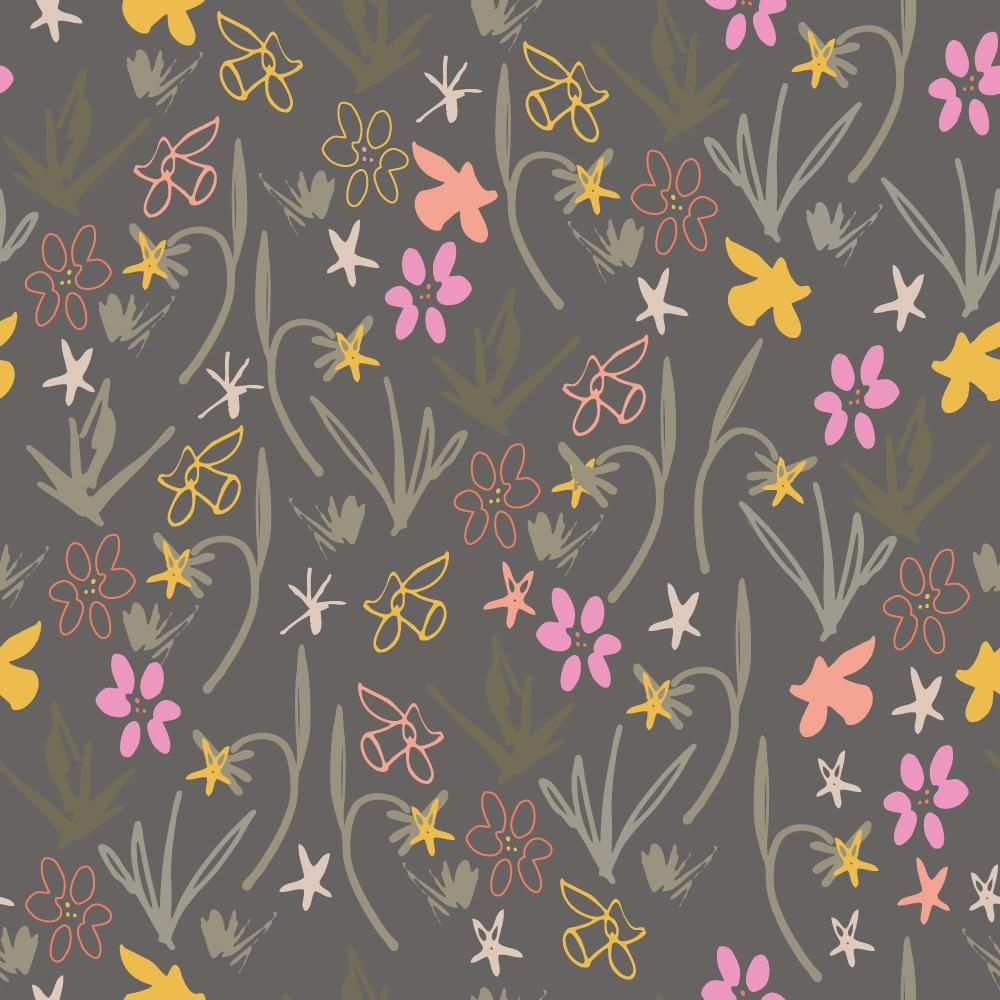Class Project : Florals  : Coloring a pattern in different ways - image 1 - student project