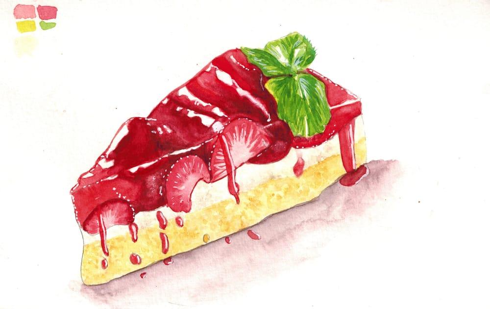 Chocolate strawberry minicake - image 1 - student project