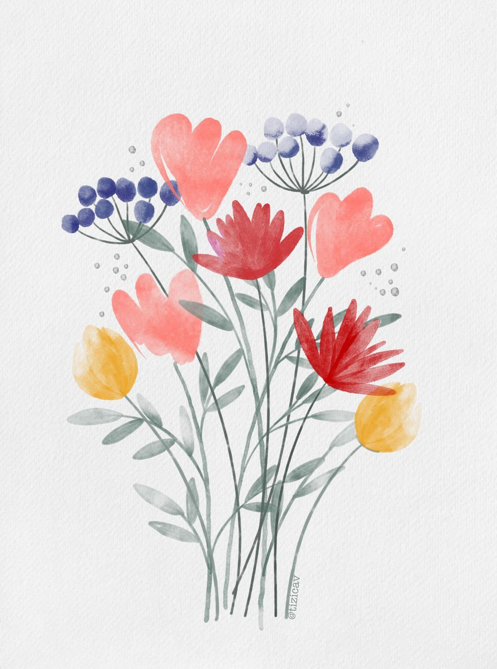 wild flowers garden - image 1 - student project