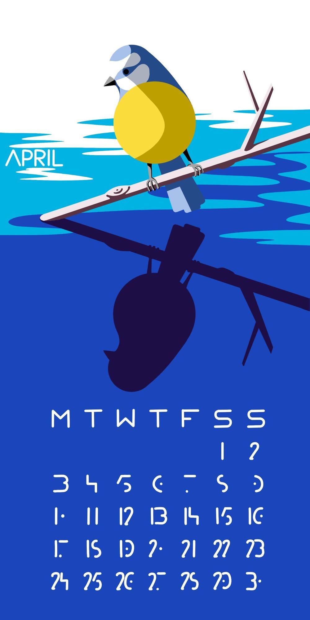 April Calendar - image 2 - student project