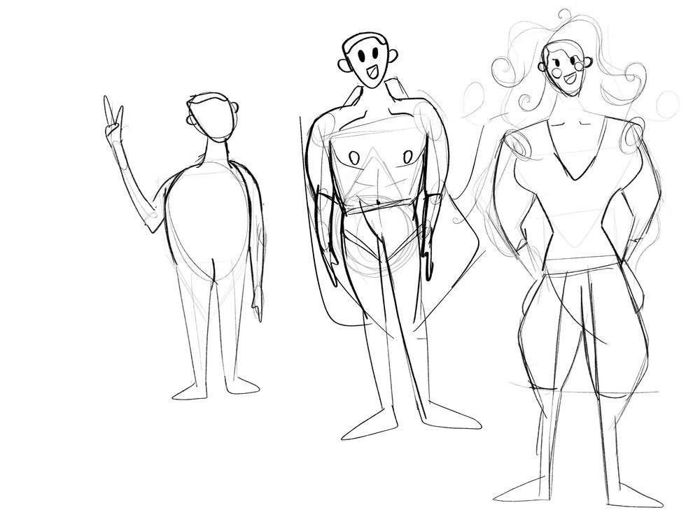 Christopher Jeske - Character poses - image 4 - student project
