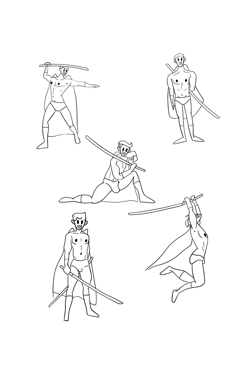 Christopher Jeske - Character poses - image 6 - student project