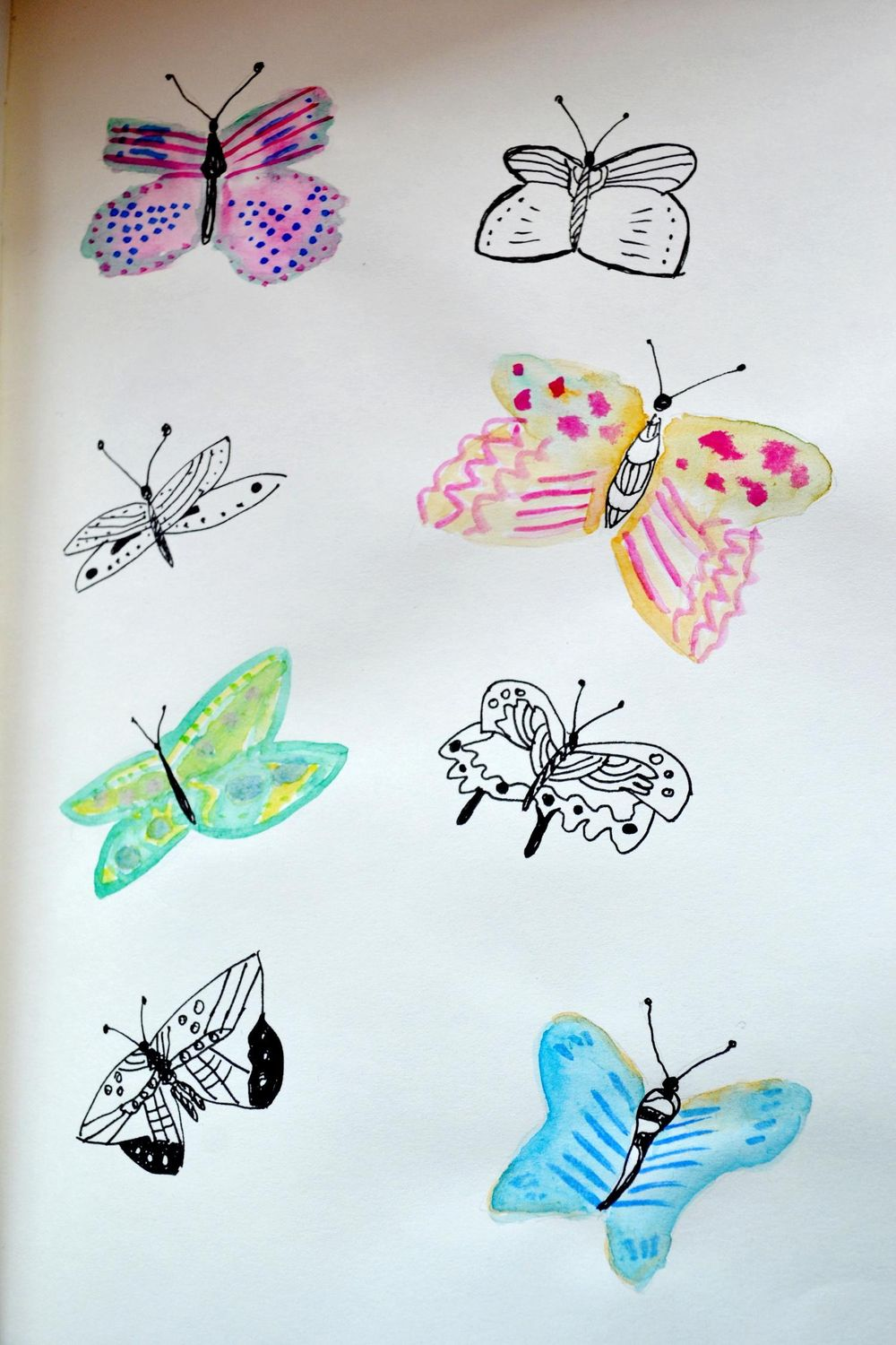 daily art practice. butterflies - image 1 - student project