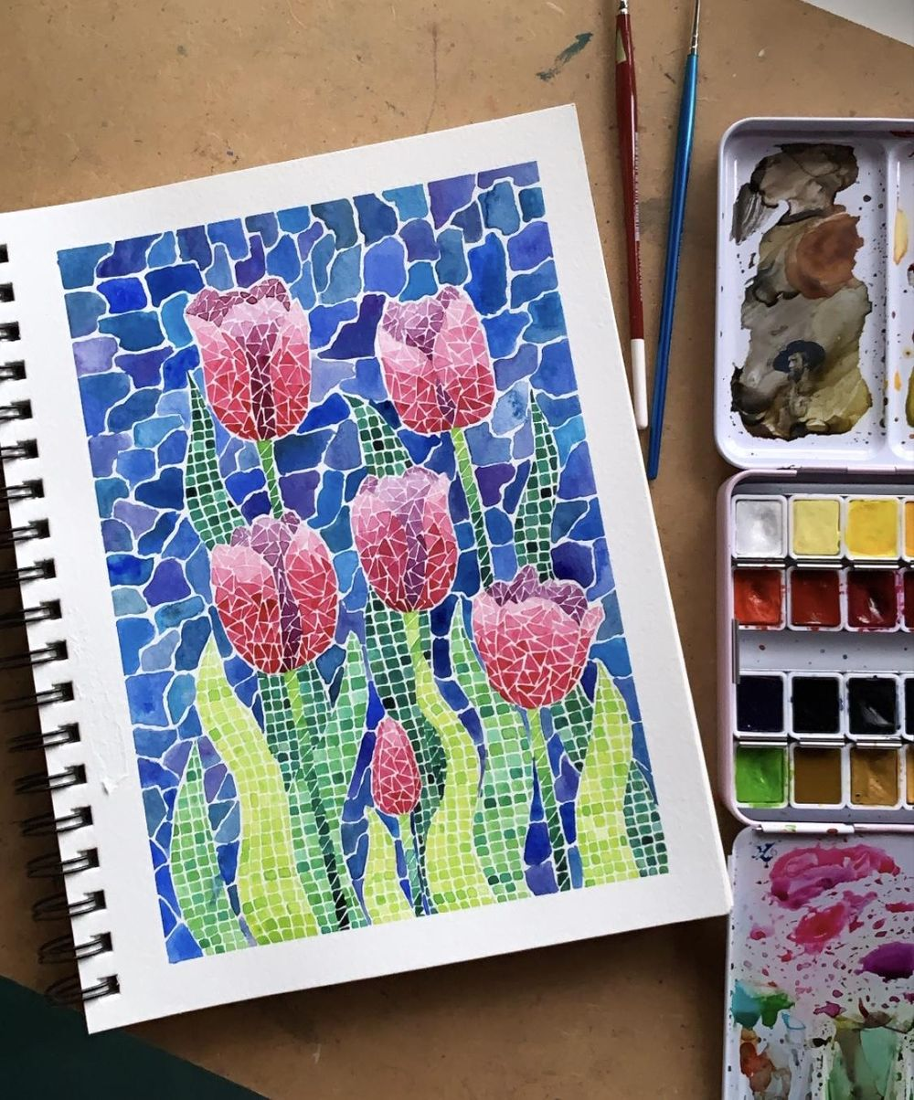 My Project for Watercolor Mosaics - image 1 - student project