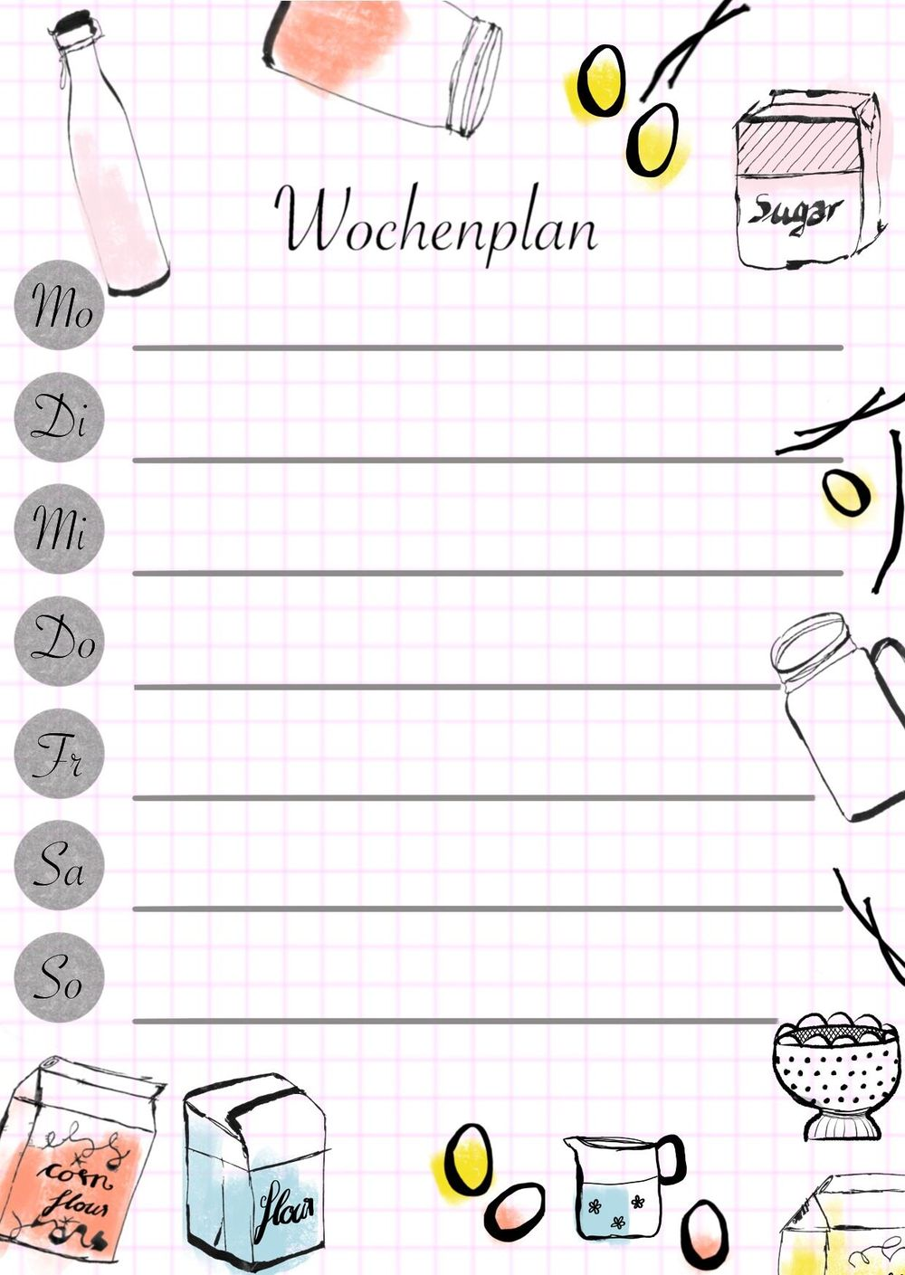 School trip cooking planner - image 2 - student project