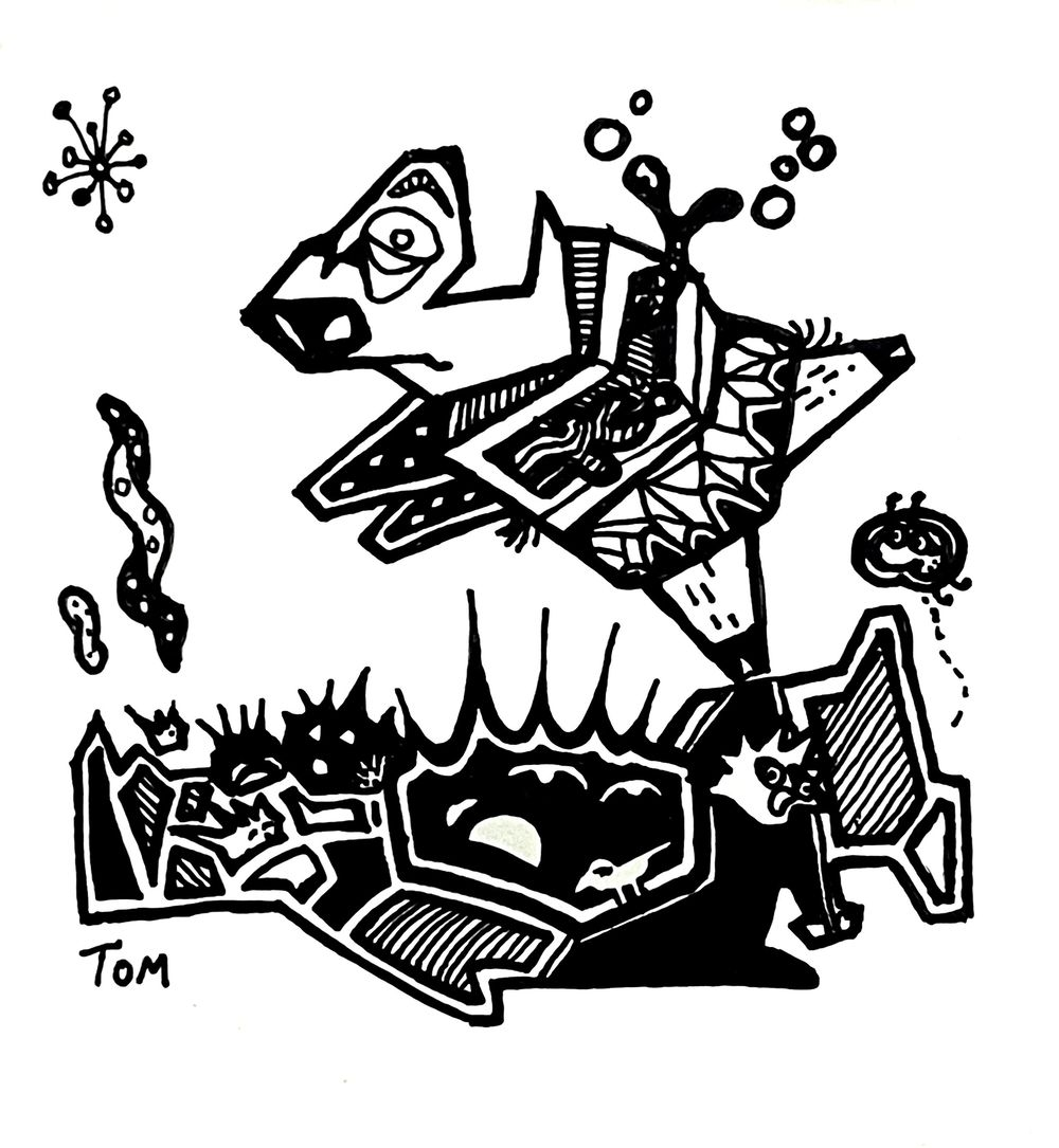Some doodles exploring composition - image 5 - student project