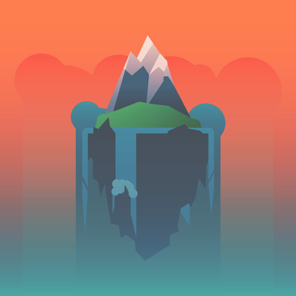 Island Project: The Lone Mountain (Sunset) - image 2 - student project