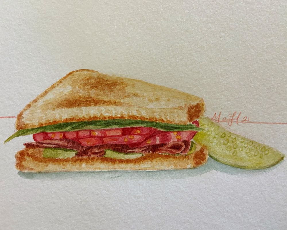 Mindful Eating; Watercolor Illustrations - image 3 - student project