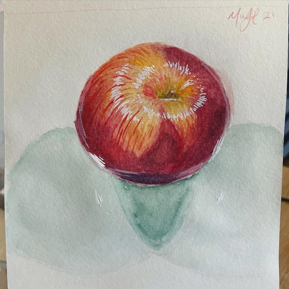 Mindful Eating; Watercolor Illustrations - image 6 - student project
