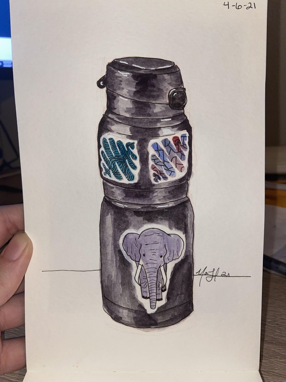 Mindful Eating; Watercolor Illustrations - image 2 - student project