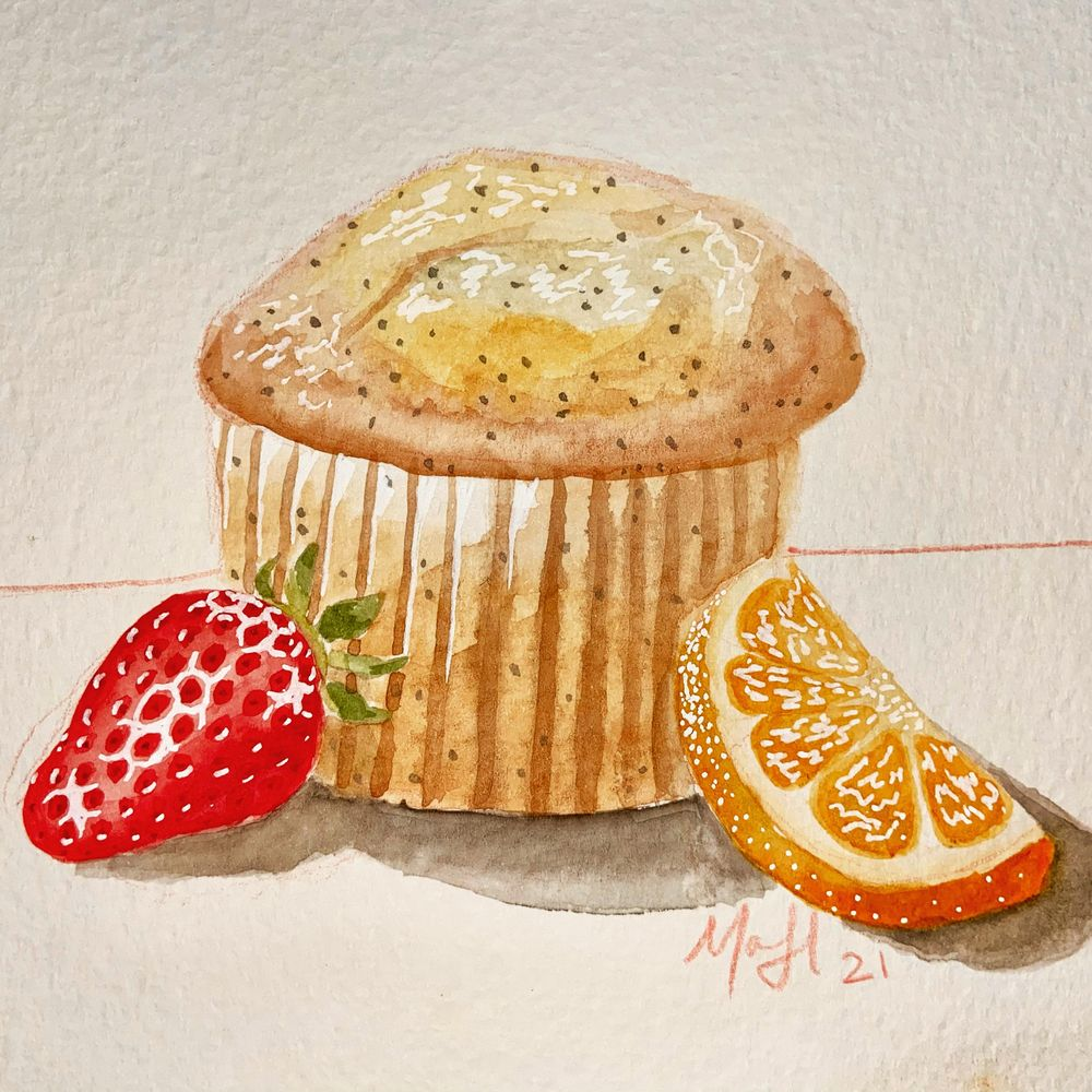 Mindful Eating; Watercolor Illustrations - image 1 - student project