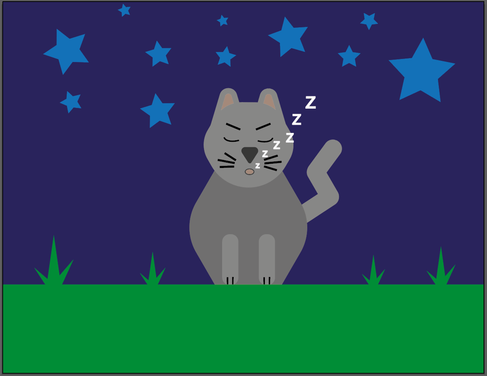 Seefa Cat Snoozing - image 1 - student project