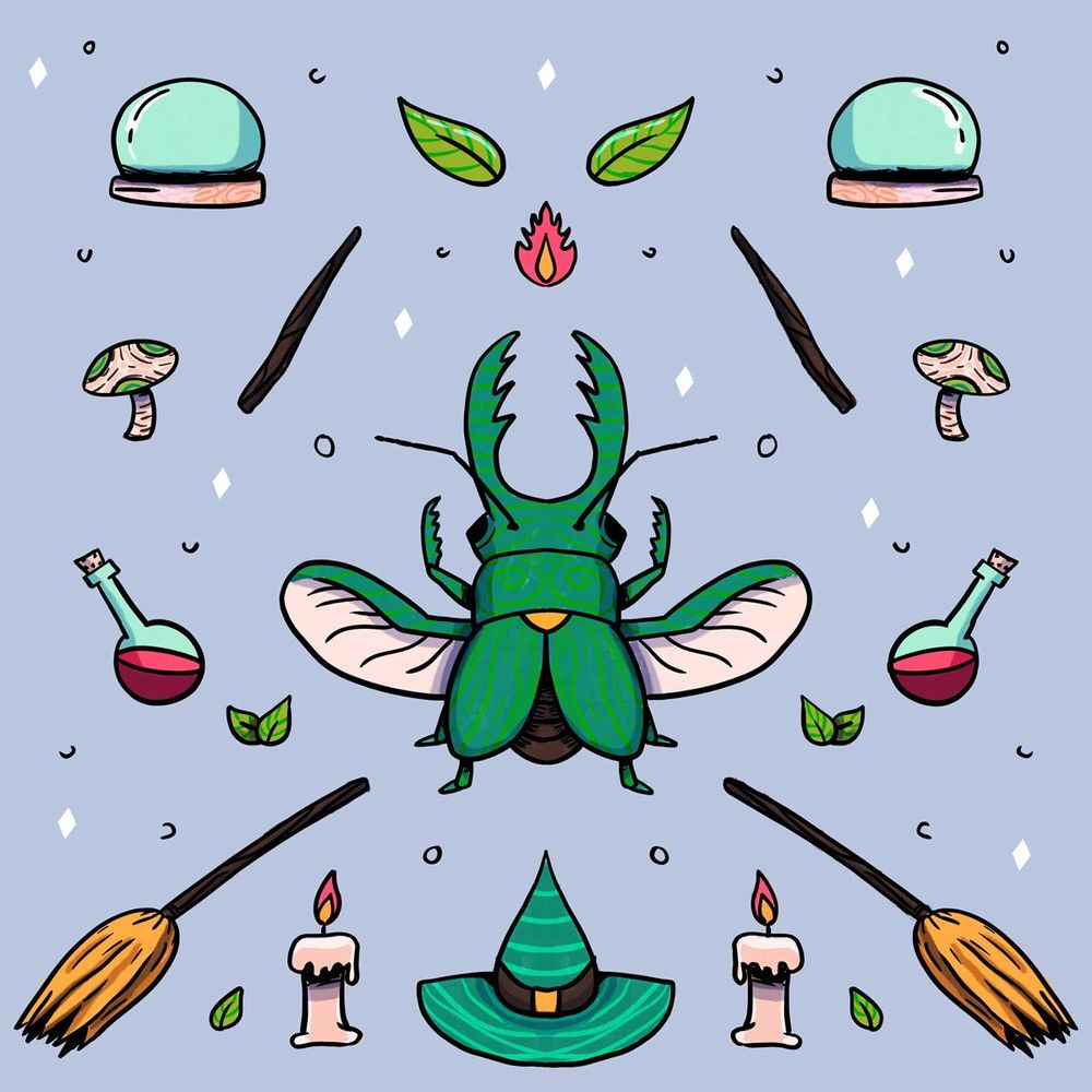 Magical beetle - image 1 - student project