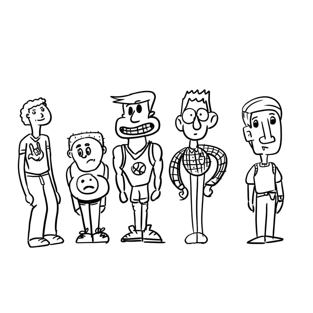 5 catoony kids - image 1 - student project
