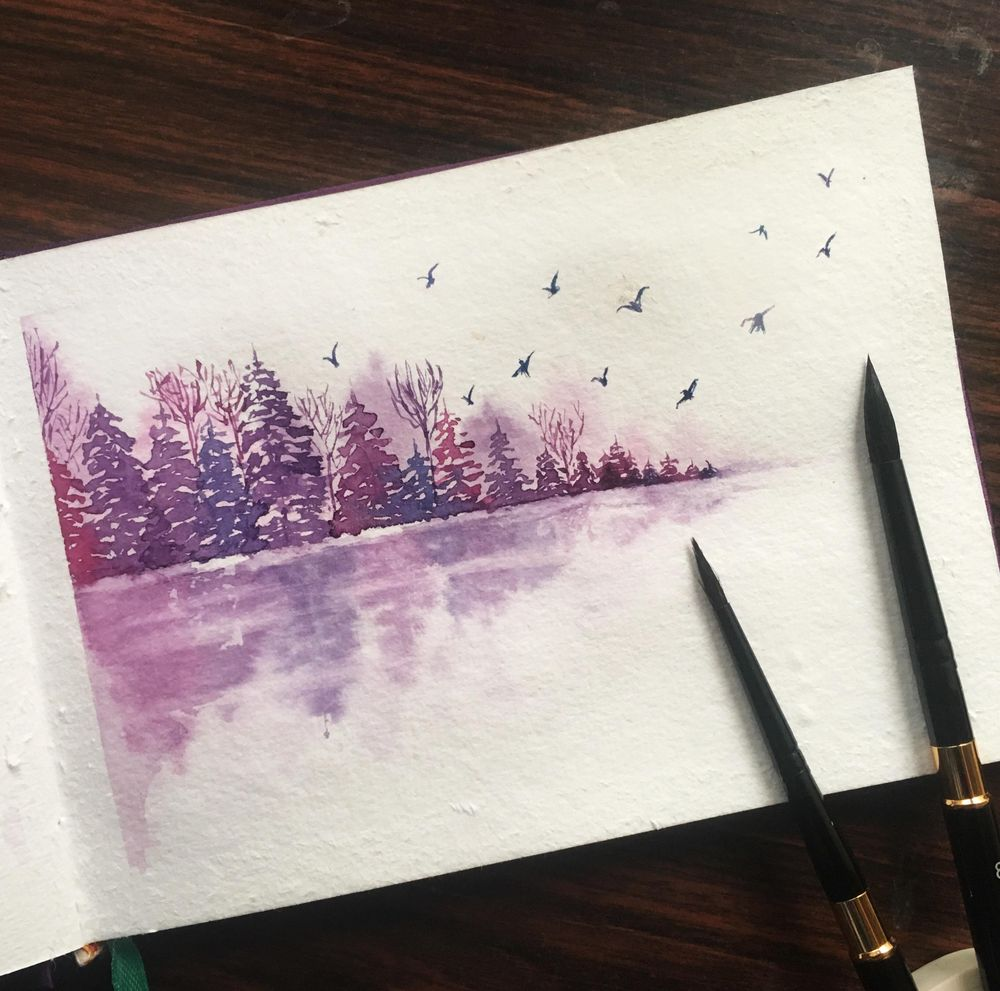 Pines by the lake - image 1 - student project