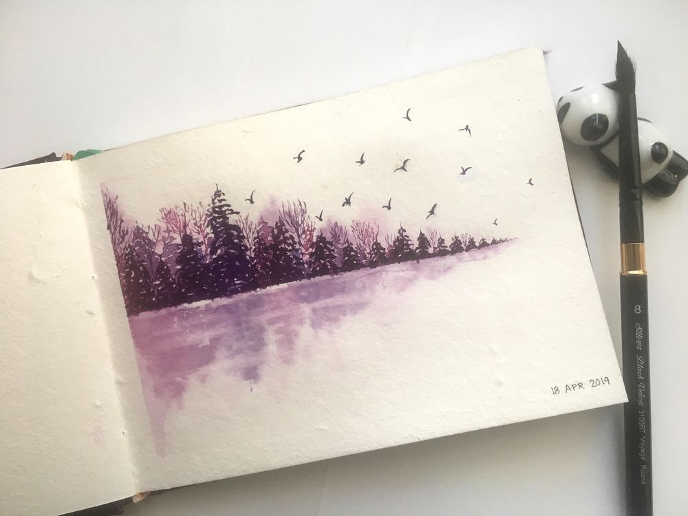 Pines by the lake - image 2 - student project