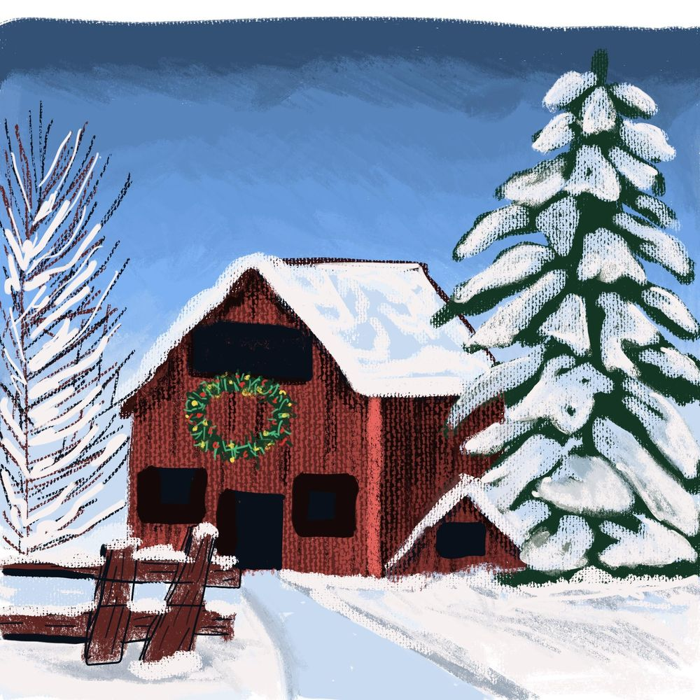 Snowy barn - image 1 - student project