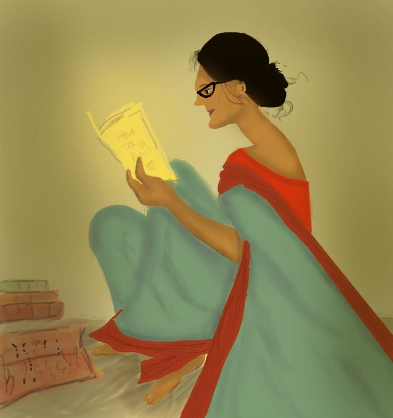 Lady with books - image 1 - student project