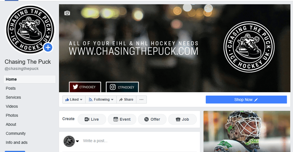Social Media Branding for Chasing The Puck - image 1 - student project