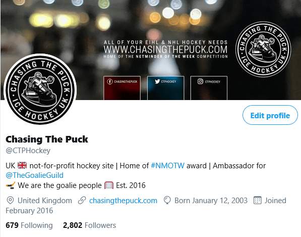 Social Media Branding for Chasing The Puck - image 2 - student project