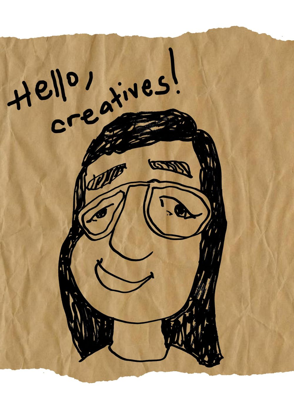 Self-portrait with my less dominant hand (left) - image 1 - student project