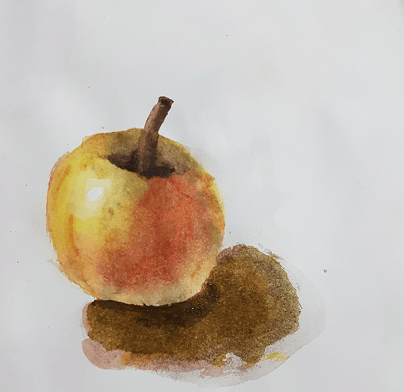 Watercolor apple - image 1 - student project