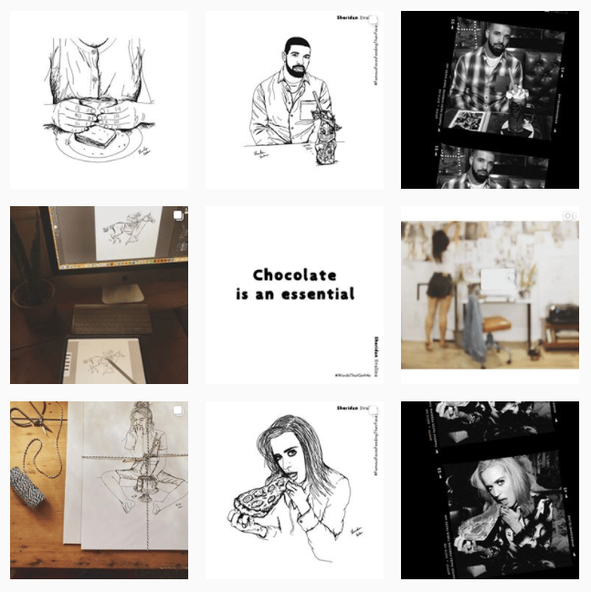 Girl who draws burgers + beers - image 1 - student project