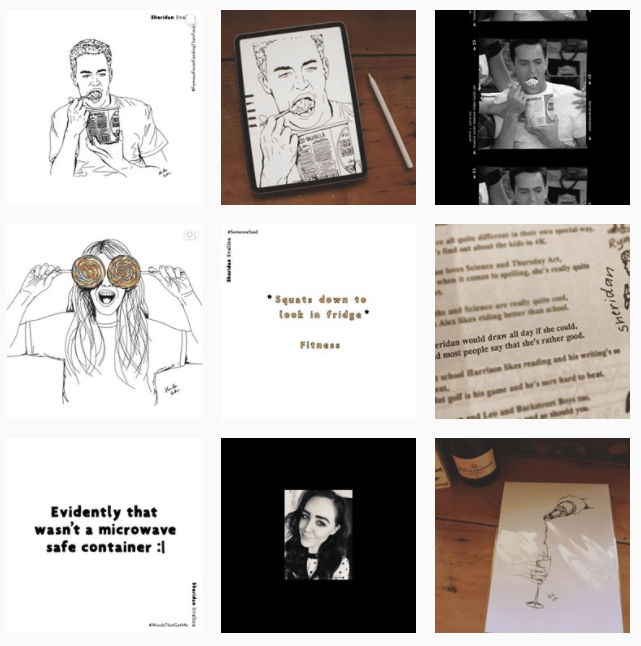 Girl who draws burgers + beers - image 3 - student project